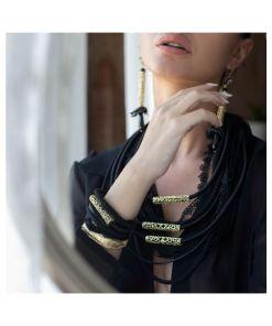 collana orecchini bronzo cordoni black opus4 03
