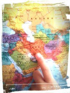Photo de la mappe monde tour du monde des saveurs pays Iran monblabladefille.com