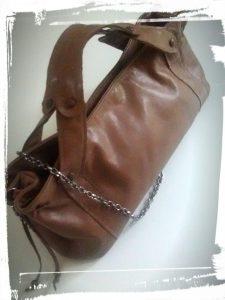 Résultat final du sac en cuir de style Gérard darel tuto home made monblabladefille.com