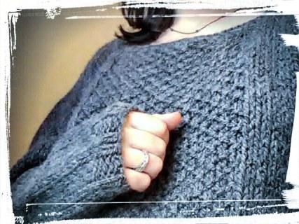 Réalisation pull douillet laine drops andes diy hand made gris tuto monblabladefille.com