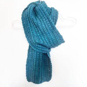 Photo écharpe au point de côte à maille glissée laine puna drops monblabladefille.com