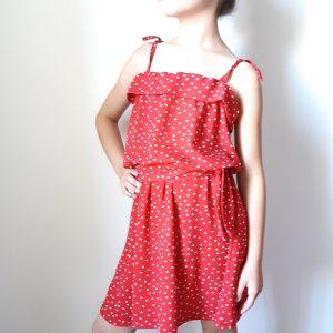 Photo patron de ma petite robe noire mini Lou mespatronsdefille makerist monblabladefille.com