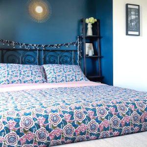 Notice explicative et patron pour réaliser un bout de lit maison et ses taies d'oreiller assorties cousefree cousette pattern hand made cousu main monblabladefille.com