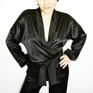 Patron de l'ensemble pyjama Blaise kimono #monblabladefille #pyjamablaise influence japonisante makerist