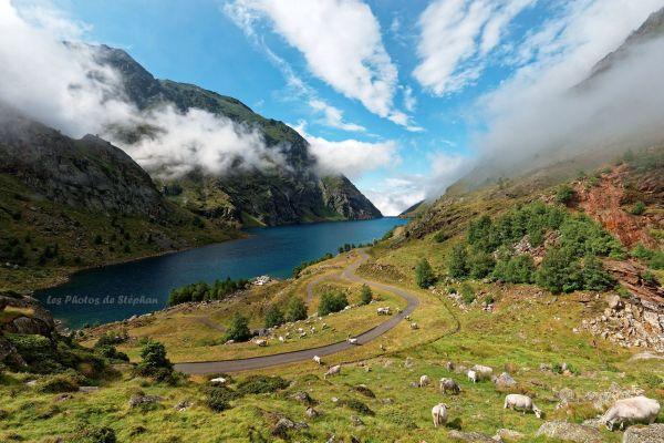 Trek Haute Ariège - Jour 8 - vue sur le barrage de Soulcem