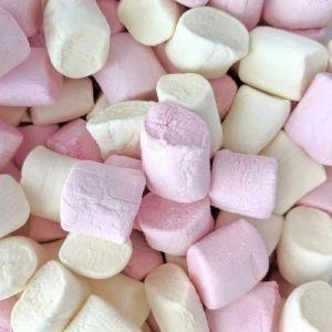 Marshmallow rose et blanc