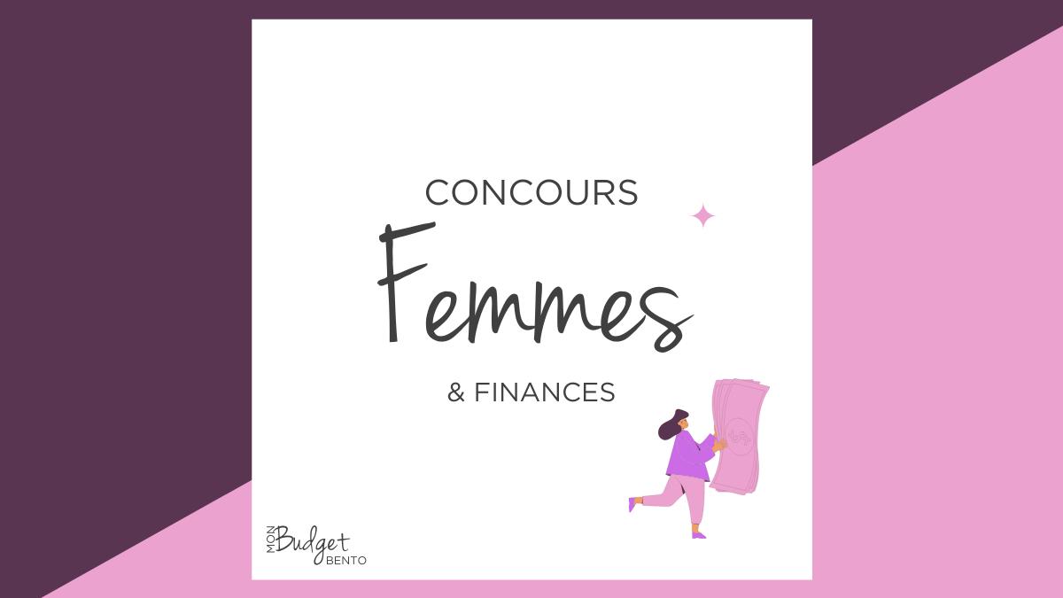 concours femmes et finances mon budget bento