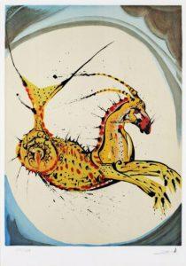 Salvador Dali ; ses peintures des signes du zodiaque : Il exprime la patience, la persévérance, la prudence, l'industrie, la réalisation, le sens du devoir. (squelette, système osseux)