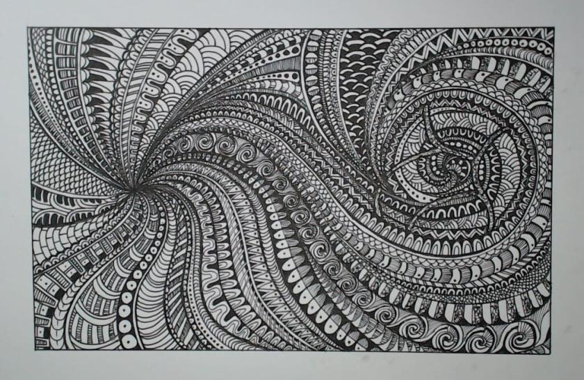 La méthode Zentangle créée par Rick Roberts et Maria Thomas est un moyen facile de méditer en dessinant des motifs structurés et répétitifs.
