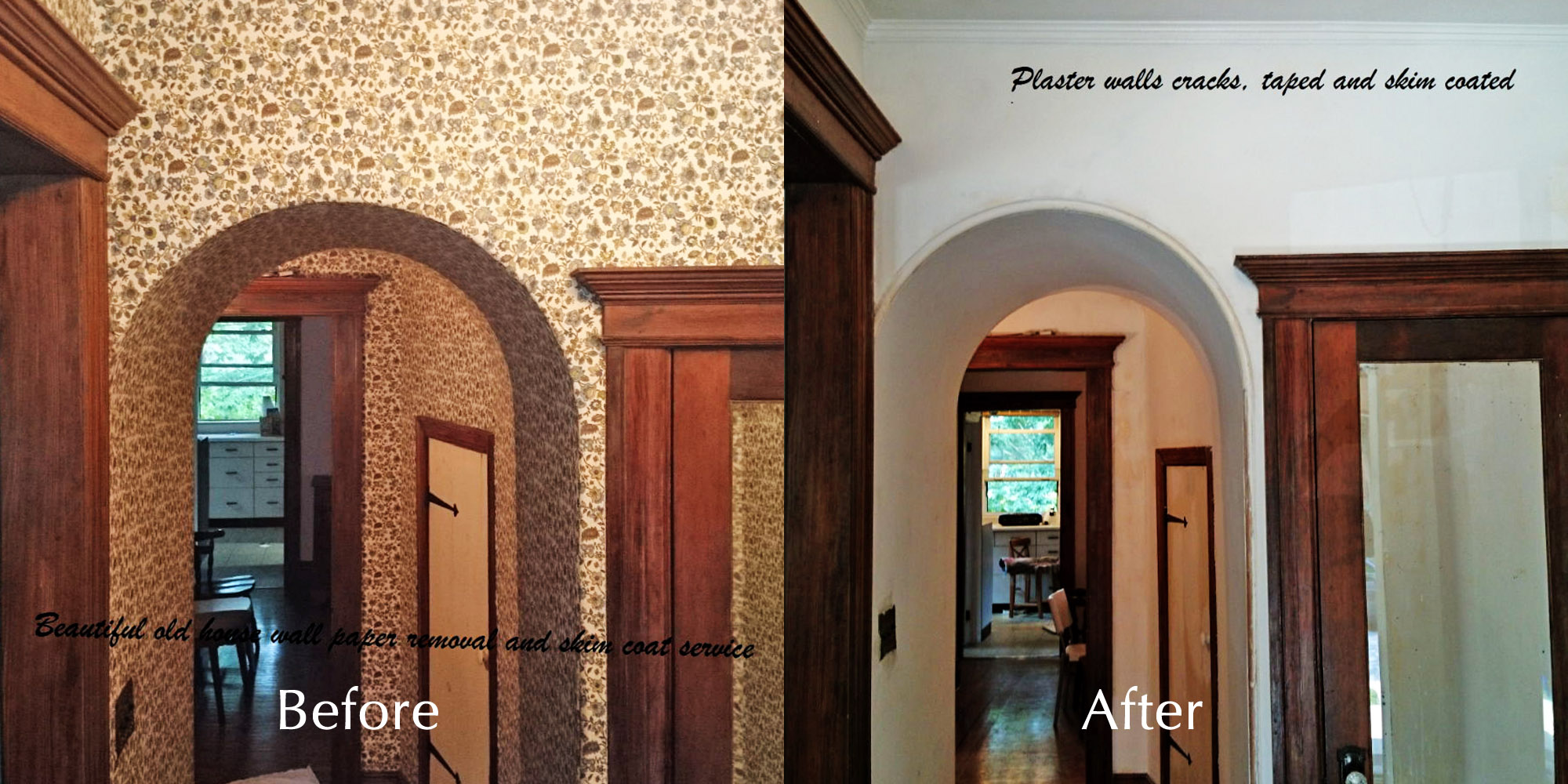 Before  After Photos  Moncast Custom Painting and Drywall