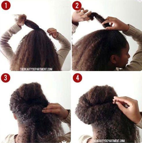 TUTO 5 Chignons De Ftes Raliser Sur Cheveux Crpus