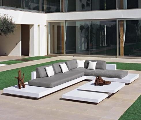 salon de jardin mobilier exterieur design - boisholz - Meuble Exterieur Design