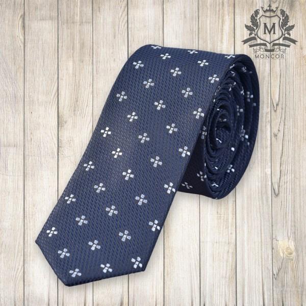 Falcon's sötétkék virágmintás nyakkendő