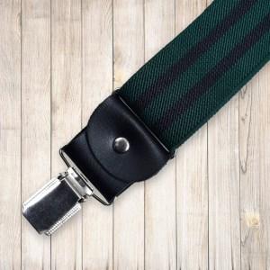 Zöld, fekete csíkos nadrágtartó