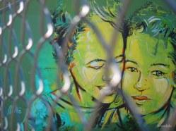 Street Art devant un jardin d'enfant