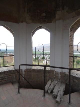 The aerie of the minaret in Uzgen