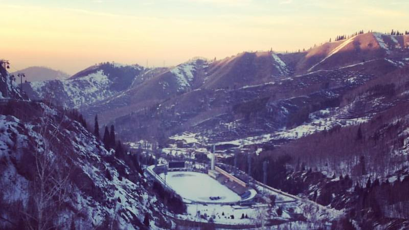 Medeo ice rink in Almaty, Kazakhstan