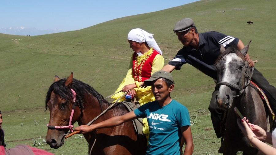 Girl On Horse Wearing Jooluk