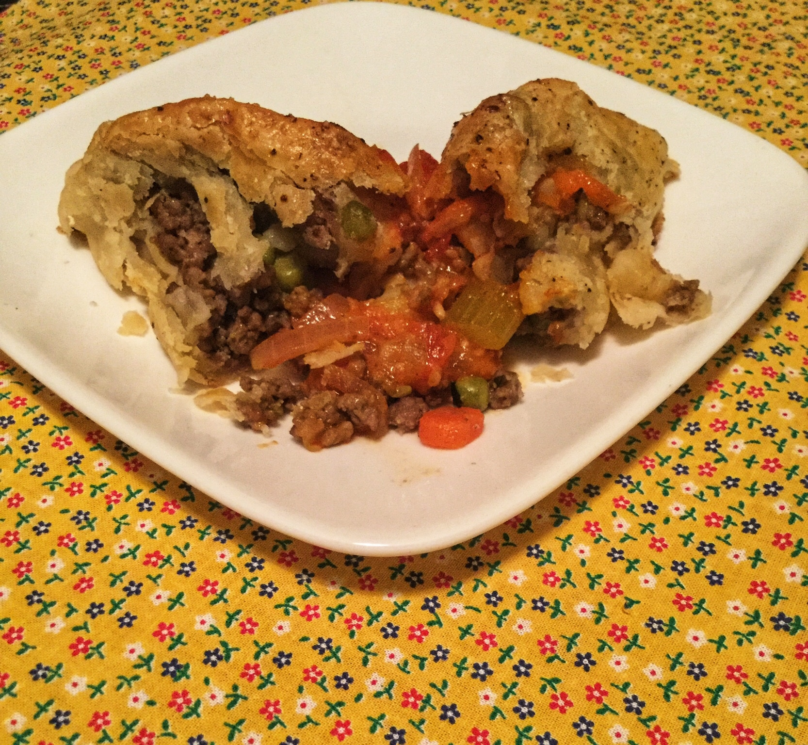 Ground Beef Cornish Pasties with Tomato Relish