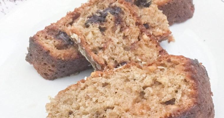 Healthier Chocolate Banana Oat Bread