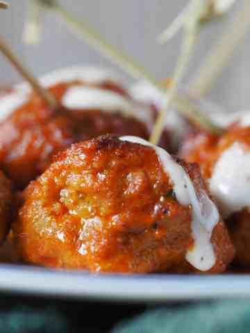 Instant Pot No Fail Buffalo Chicken Meatballs