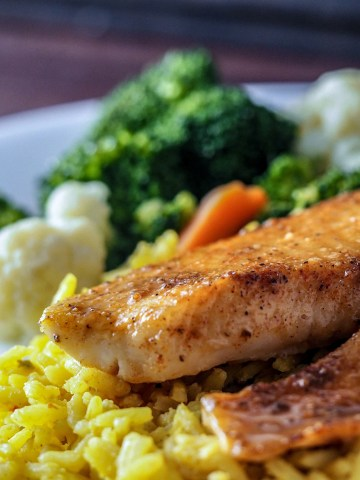 quick sweet savory tilapia dinner