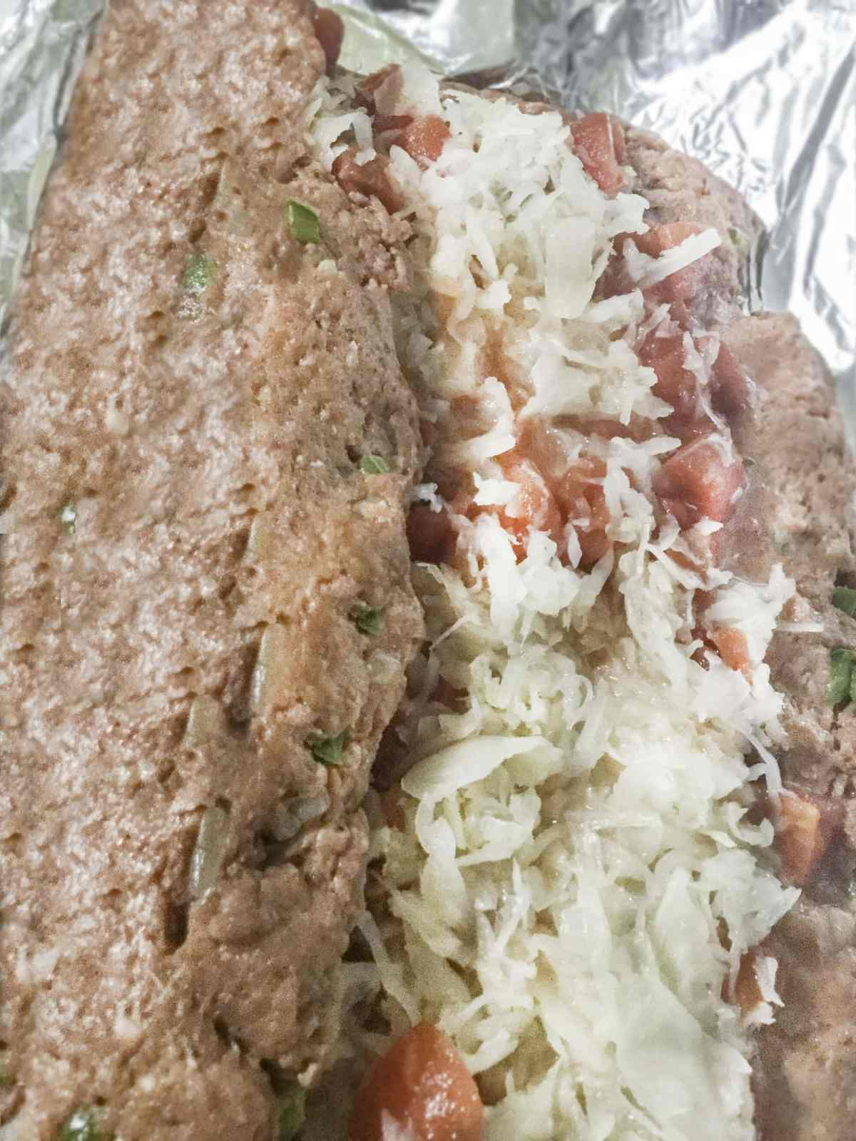 stuffed rolled meatloaf