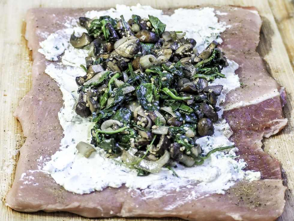 Herbed Goat Cheese, Spinach, & Mushrooms