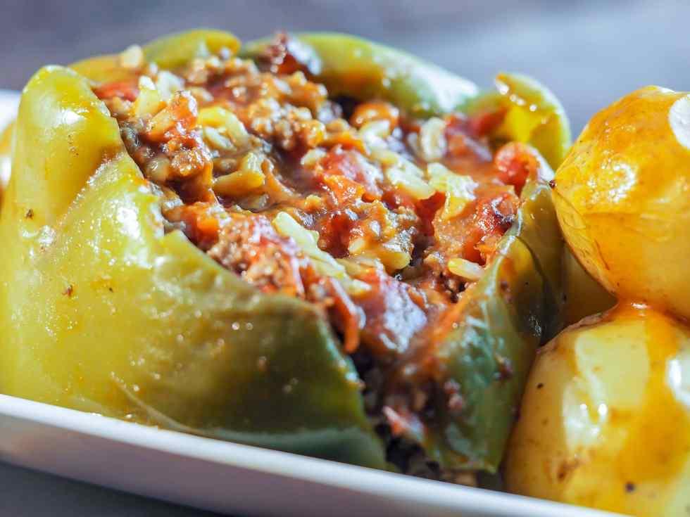 Perfect Dutch Oven Stuffed Green Peppers