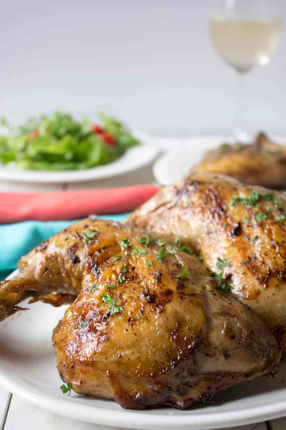 Beer Basted BBQ Chicken