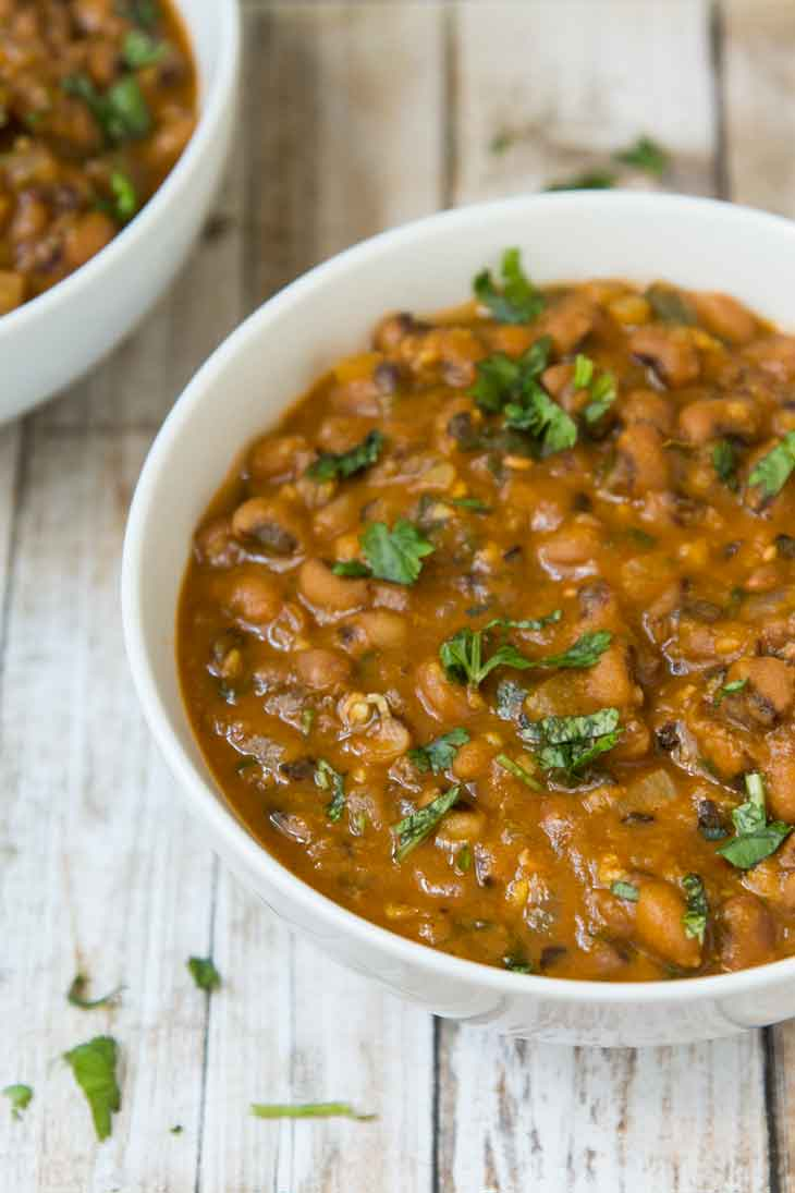 vegan black eyed peas curry