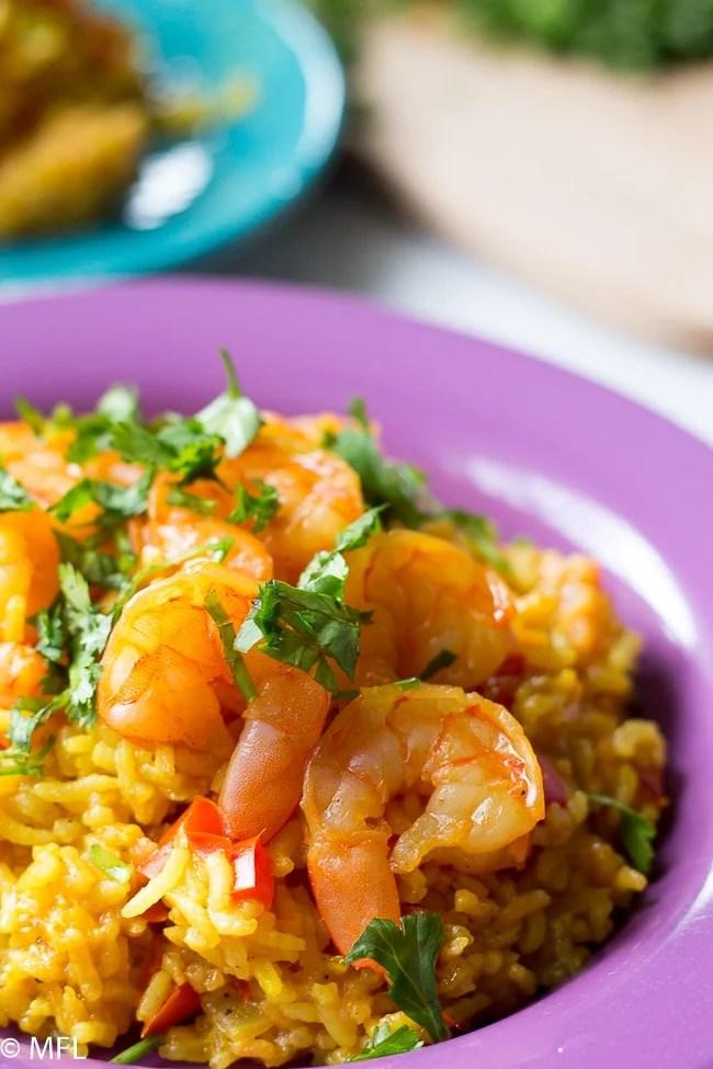 pressure cooker shrimp paella