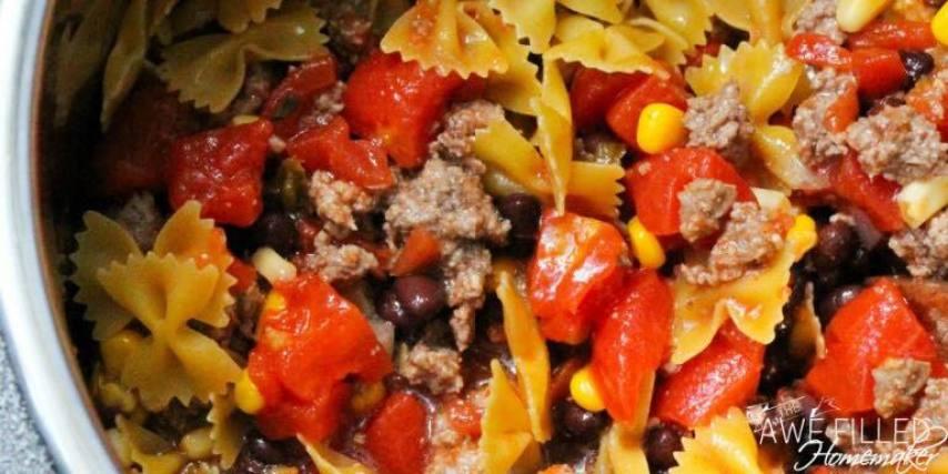 instant pot taco pasta
