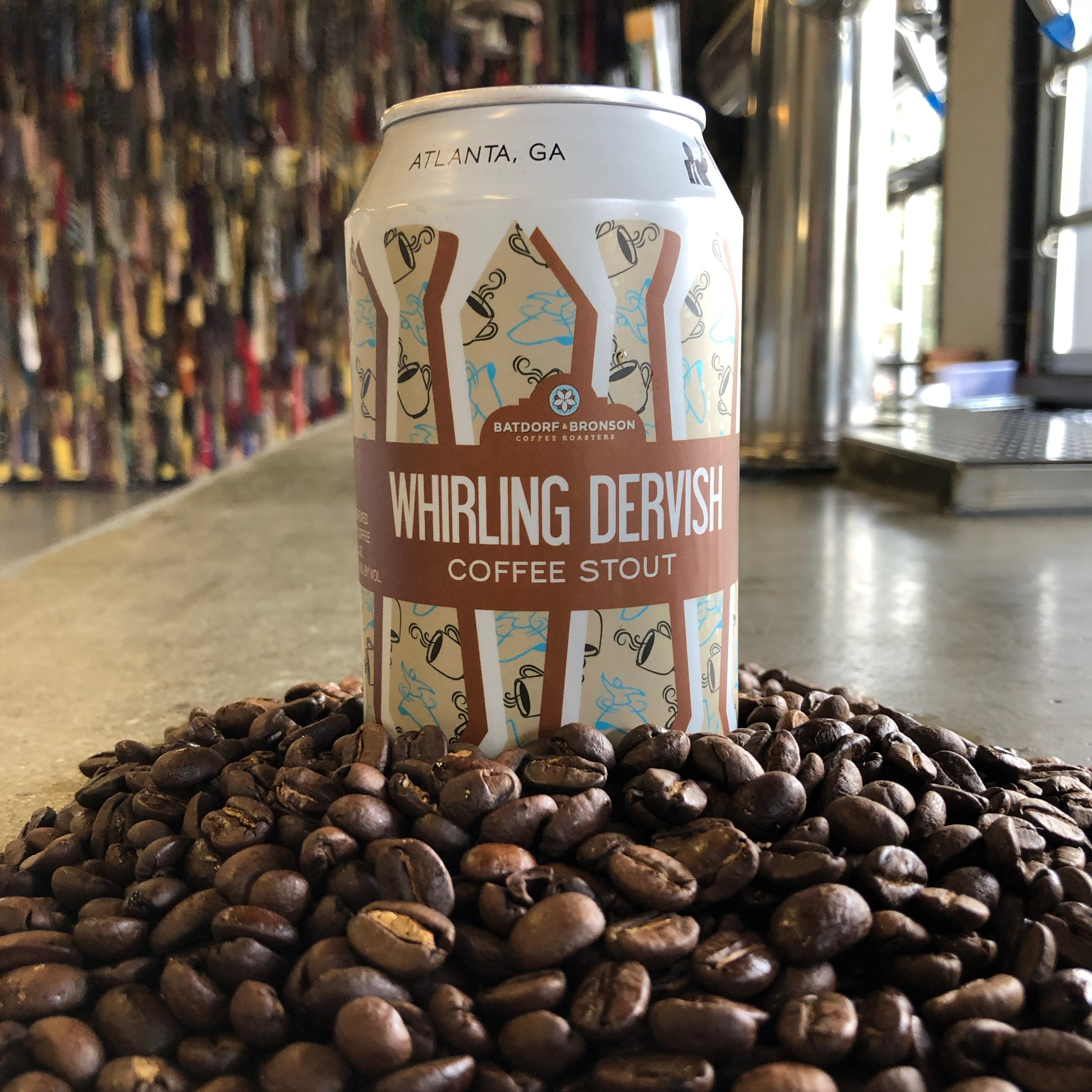 Whirling Dervish is a dry Irish stout with coffee from our friends at Batdorf & Bronson.