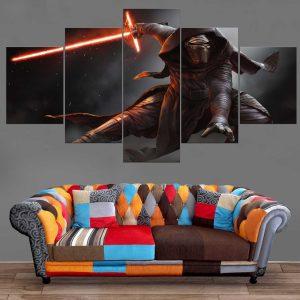 Décoration Murale Star Wars Dark Vador Kylo Ren