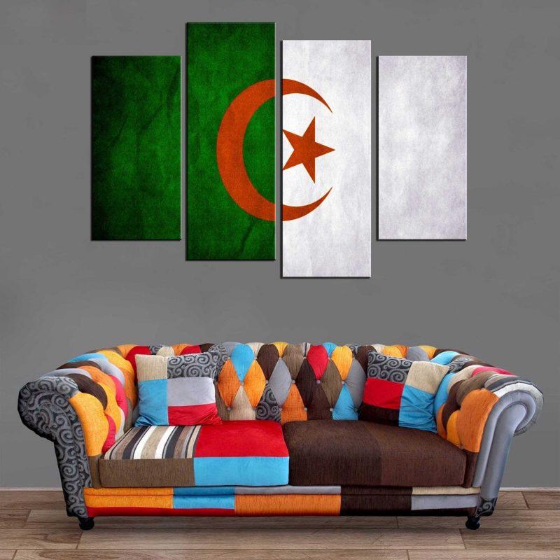 Décoration Murale Drapeau Algérie