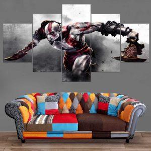 Décoration Murale God Of War Kratos Attack