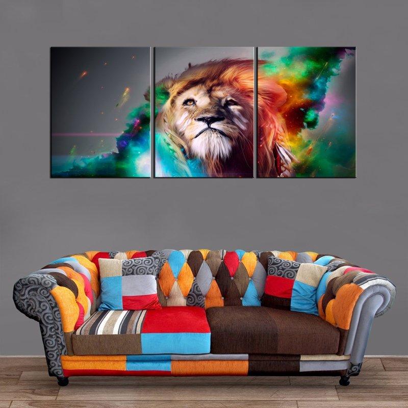 Décoration Murale Peinture Lion