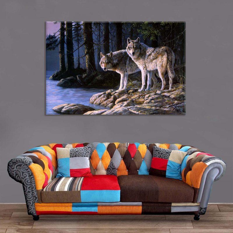 Décoration Murale Peinture Loups