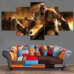 Décoration Murale God Of War Kratos Destruction