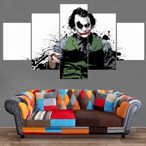 Décoration Murale Batman Joker Drawing Style