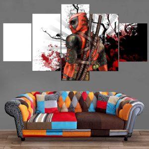 Décoration Murale Deadpool Painting
