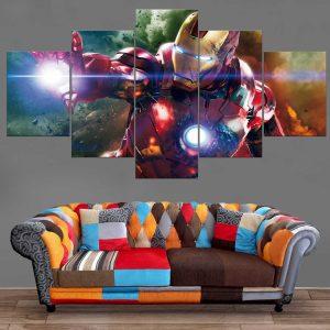 Décoration Murale Avengers Iron Man Attack