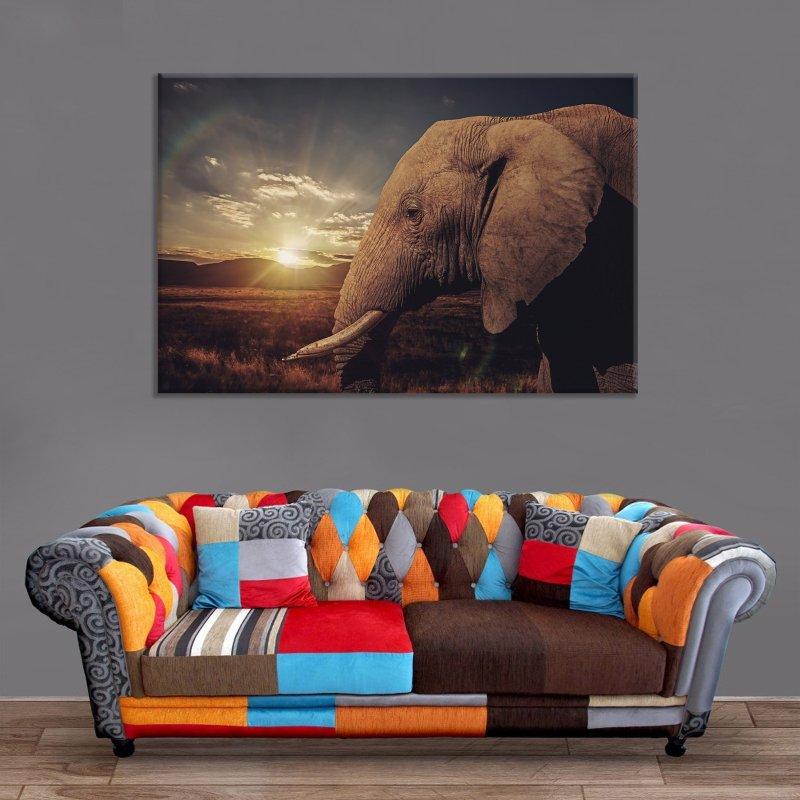 Décoration Murale Eléphant Sunshine