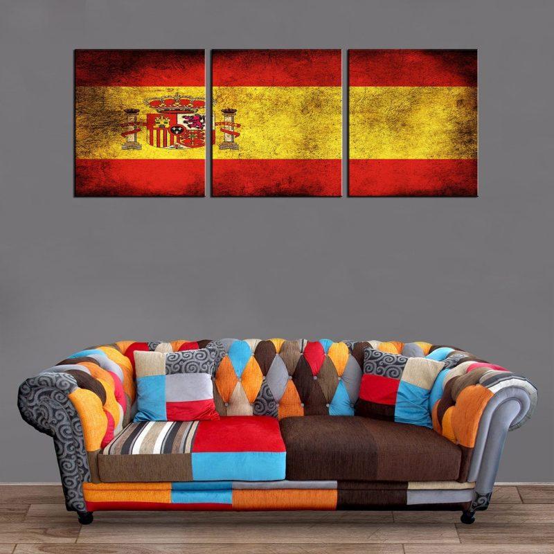 Décoration Murale Drapeau Espagne
