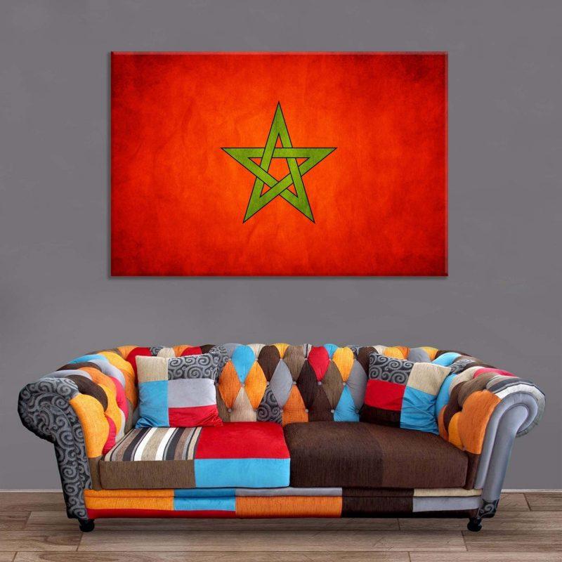 Décoration Murale Drapeau Maroc