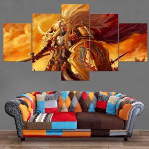 Décoration Murale Warcraft Guerrier Elfe