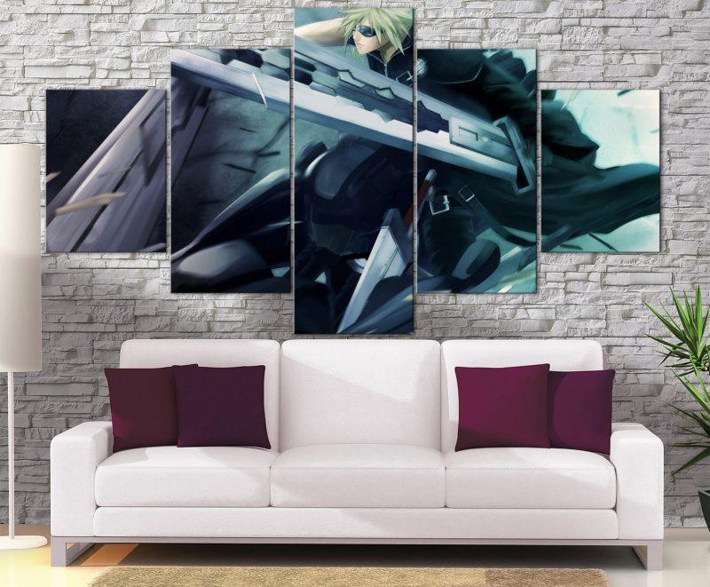 Décoration murale Final Fantasy 7 Cloud Moto