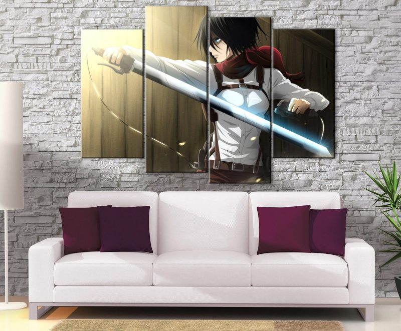 Décoration Murale L'attaque des Titans Mikasa