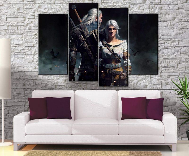 Décoration Murale The Witcher Geralt X Ciri